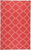 Frontier Lattice Flat Weave Rug in Brick
