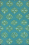Frontier Medallion Flat Weave Rug in Teal