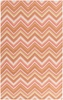 Frontier Multi Chevron Flat Weave Rug in Carnation
