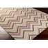 Frontier Multi Chevron Flat Weave Rug in Mauve