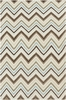 Frontier Multi Chevron Flat Weave Rug in Olive
