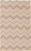 Frontier Multi Chevron Flat Weave Rug in Salmon