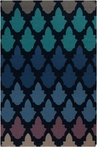 Frontier Scales Flat Weave Rug in Blue