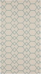 Frontier Shapes Rug in Beige and Teal