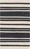 Frontier Striped Flat Weave Rug in Charcoal