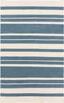 Frontier Striped Flat Weave Rug in Slate