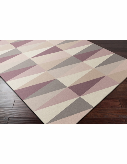 Frontier Triangle Flat Weave Rug in Ivory