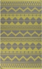 Frontier Tribal Flat Weave Rug in Olive