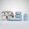 Frosted Blueberry Stainless Steel Dishware Set