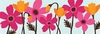 Fuchsia and Tangerine Flower Garden Wall Art II