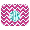 Fuchsia Chevron Personalized Mouse Pad