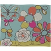 Fun Floral Fleece Throw Blanket