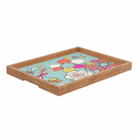 Fun Floral Rectangle Tray