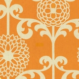 Fun Floret Citrus Orange (100% Cotton)