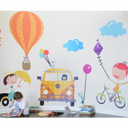 Fun Times Playful Fabric Wall Decals
