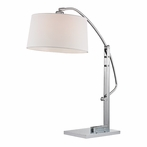 Functional Arc Table Lamp In Polished Nickel