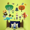 Funky Woodland Creatures Boy Peel & Place Wall Stickers