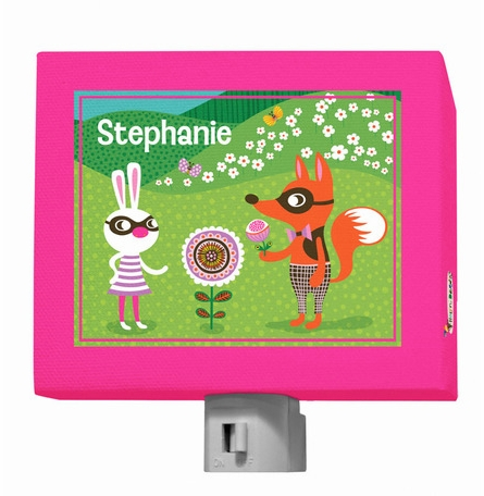 Funky Woodland Creatures Girl Night Light