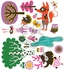 Funky Woodland Creatures Girl Peel & Place Wall Stickers