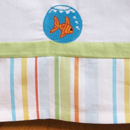 Funny Friends Embroidered Crib Skirt