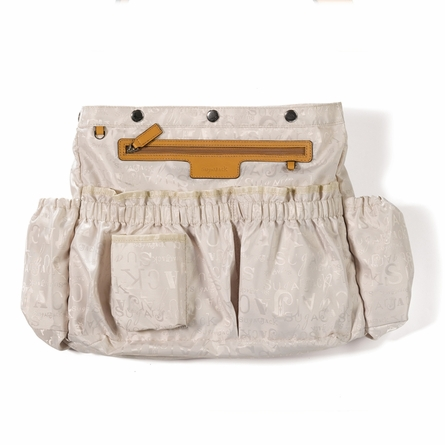 Gabi Leather Diaper Bag in Tan