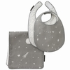 Galaxy Percale Bibs and Burp Cloth Set