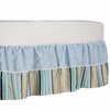 Galaxy Stripe and Blue Twill Crib Skirt