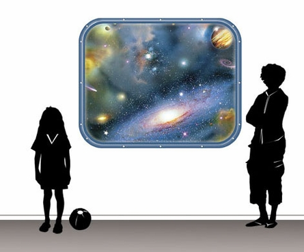 Galaxy Window 2 Peel and Stick Wall Mural