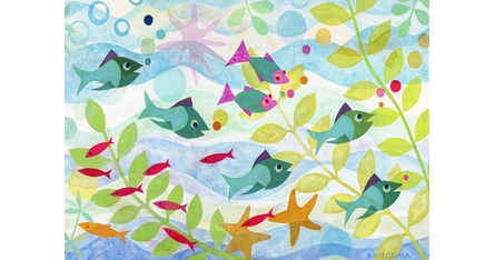 Gale Kaseguma Fish Party Placemats - Set of Four