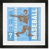 Game Ticket - At Bat Framed Art Print