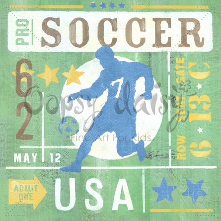 Game Ticket - Going For the Goal Canvas Wall Art