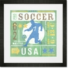 Game Ticket - Going For the Goal Framed Art Print