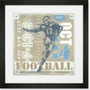 Game Ticket - Rushing the End Zone Framed Art Print
