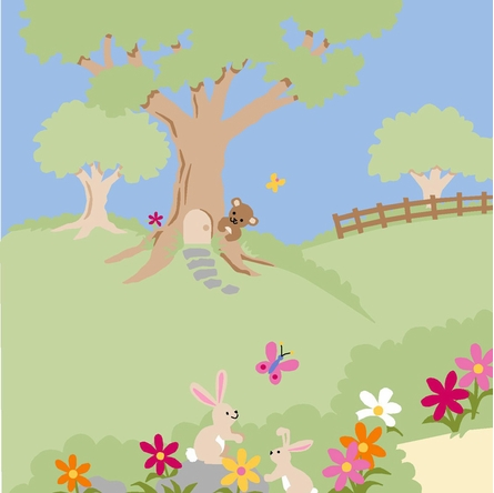 Garden Delights Paint by Number Wall Mural