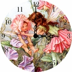 Garden Fairy Girls Wall Clock
