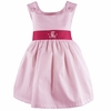 Garden Princess Pique Dress in Light Pink with Hot Pink Sash