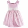Garden Princess Pique Dress in Light Pink with White Sash