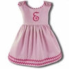 Garden Princess Pique Rick Rack Dress in Light Pink with Hot Pink Trim