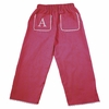 Garden Princess Pique Rick Rack Pants in Hot Pink with White Trim