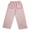 Garden Princess Pique Rick Rack Pants in Light Pink with Hot Pink Trim