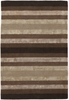 Gardenia Striped Rug in Brown