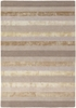 Gardenia Striped Rug in Ivory