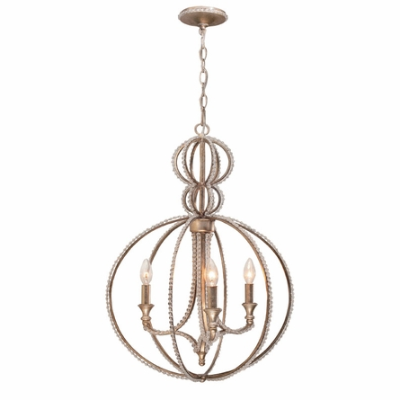 Garland Distressed Twilight Chandelier with Beads
