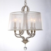 Garland Four Light Distressed Twilight Crystal Bead Mini Chandelier