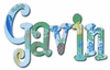Garvin Hawaiian Paradise Hand Painted Wall Letters