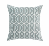 Gate Square Throw Pillow in Azure