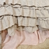 Gathered Linen Bed Skirt