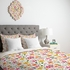 Genevieve Florals Pink Duvet Cover