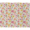 Genevieve Florals Pink Fleece Throw Blanket