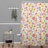 Genevieve Florals Pink Shower Curtain